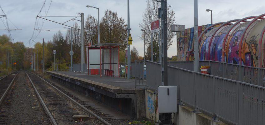 Stadtbahnhaltestelle in Alfter – nichts passiert