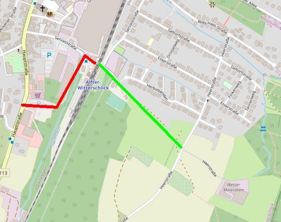Wester Werke – Eine Entlastungsstraße für Witterschlick und Volmershoven Heidgen