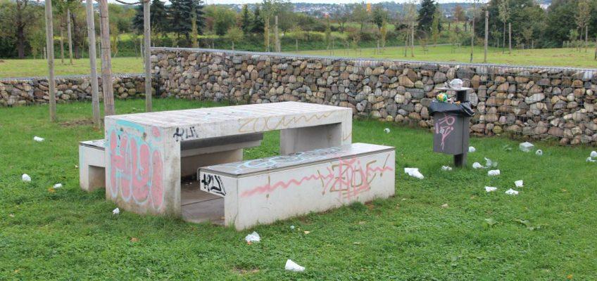 Vandalismus an ehrenamtlich gepflegten Flächen im öffentlichen Raum