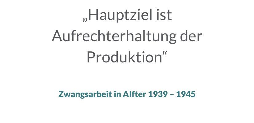 Vortrag, Dialog und Ausstellung – Aktive Erinnerung an die Opfer der NS-Zwangsarbeit in der Gemeinde Alfter